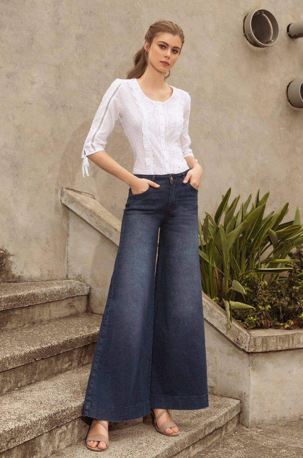 REF 1310-9 Jeans palazzo