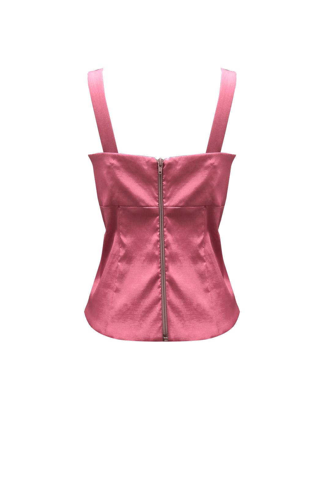 lusa de tiras con prences en busto rosa Ref 4968-9 Chazari