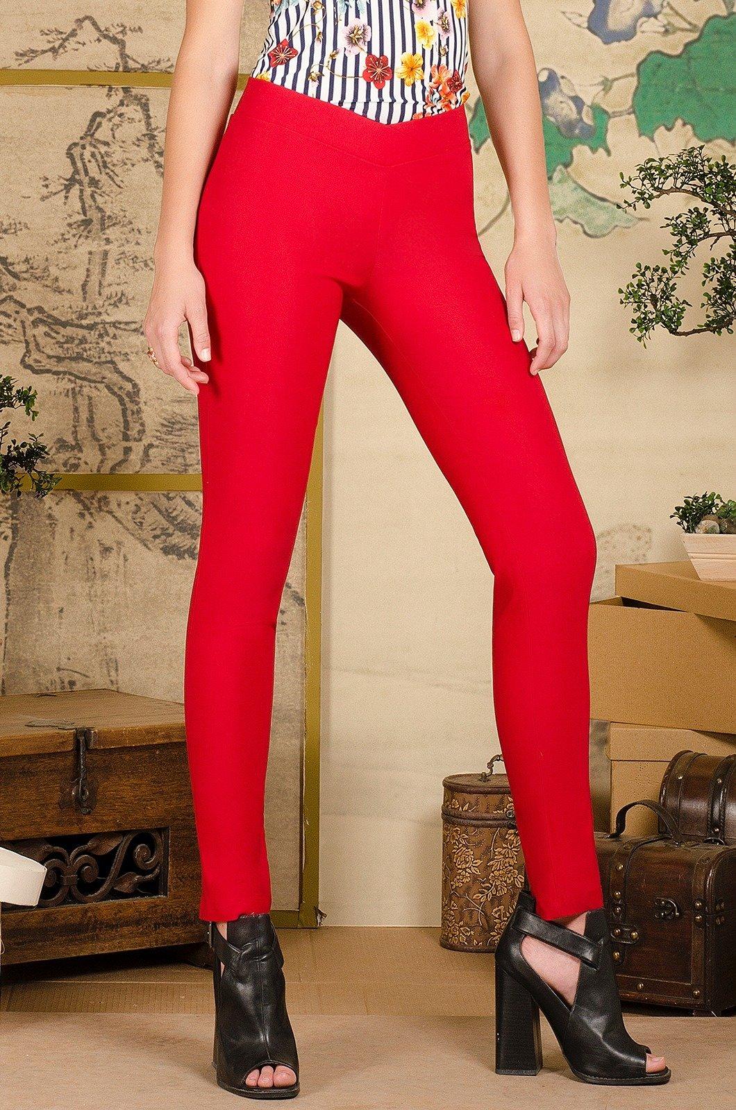 Legging rojo pretina cruzada - Chazari 1622