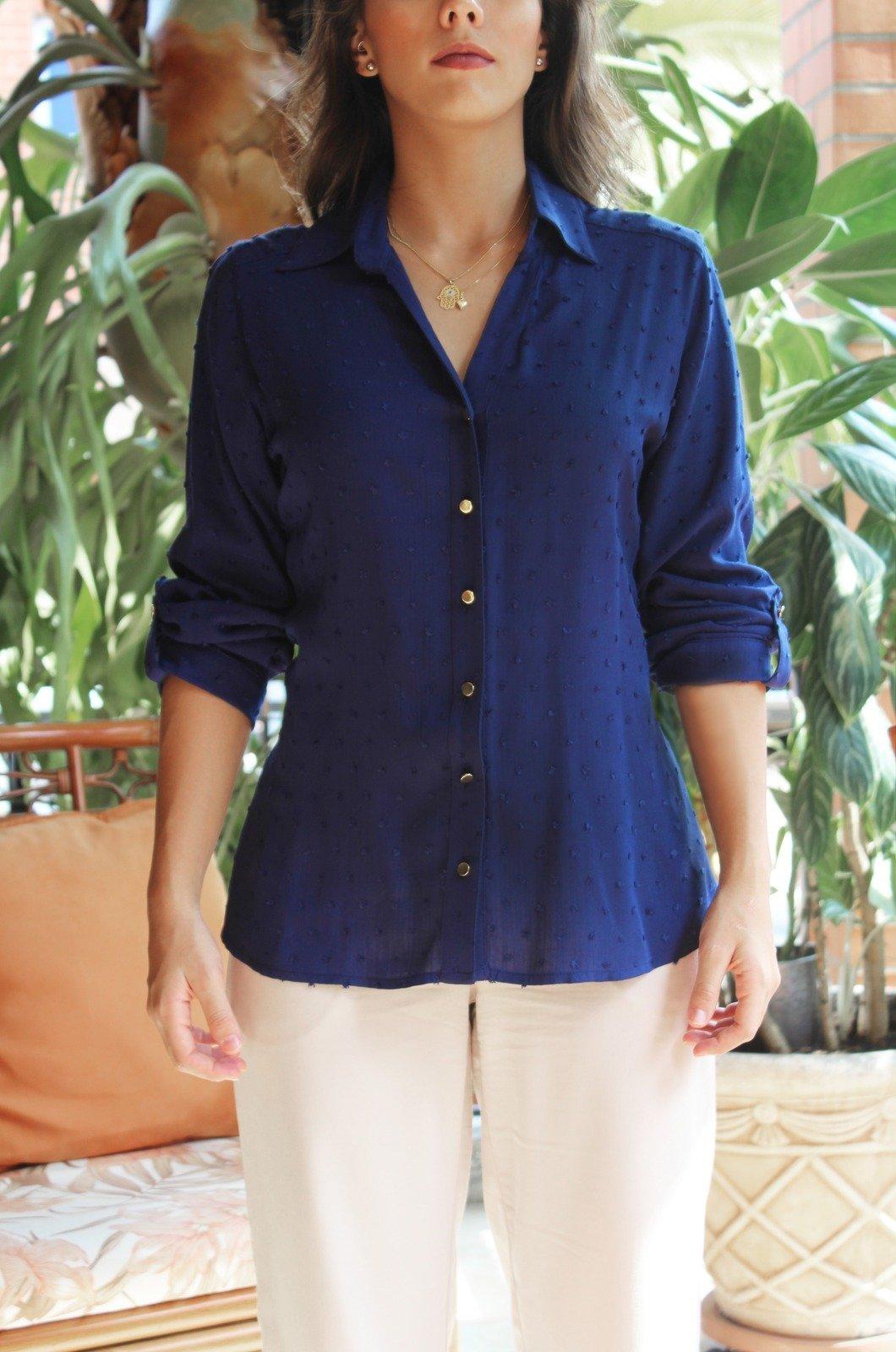 Blusa-camisera-en-rayón-azul-turqui-Chazari-4038-20