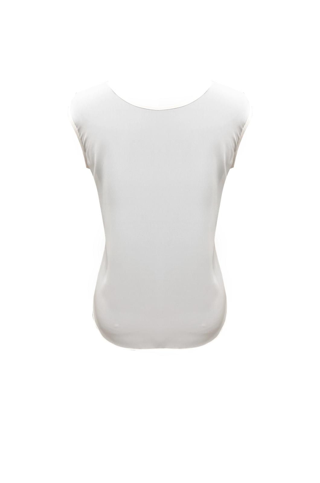 Blusa cuello redondo manga sisa sublimada