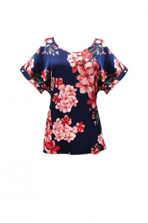 Blusa cuello redondo, mangas seguidas - Chazari 4961-9