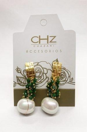 Arete-con-cristales-y-perlas-Chazari-CHZ235verde