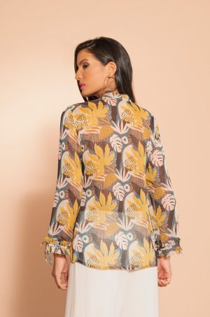 Blusa con corbatín en el cuello - Chazari 4012-20