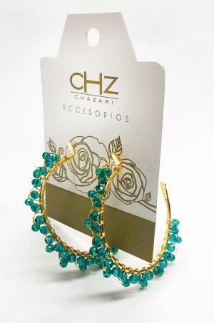 Candonga-con-cristales-Chazari-CH-240-Verde-persa