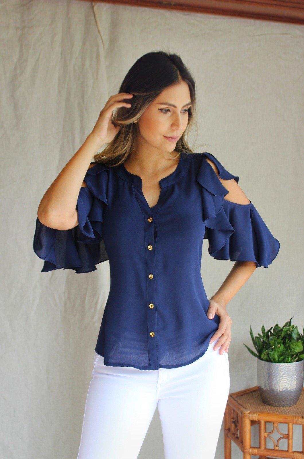 Blusa-con-boleros-en-manga-azul-turquí-Chazari-4006-20