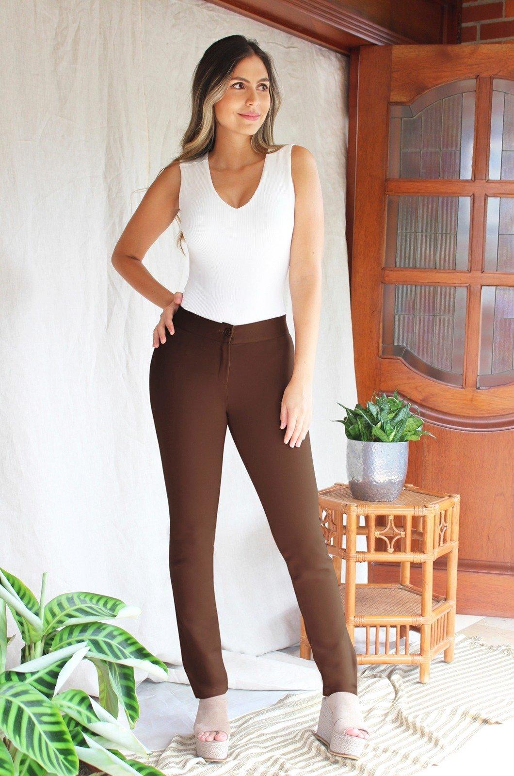 Legging-básico-sin-costuras-Chazari-1238-caf
