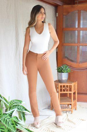 Legging-básico-sin-costuras-Chazari-1238-canela