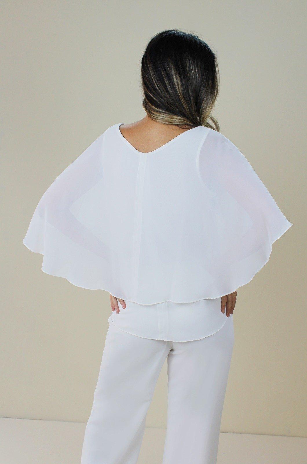Blusa chiffon capa en espalda - Chazari