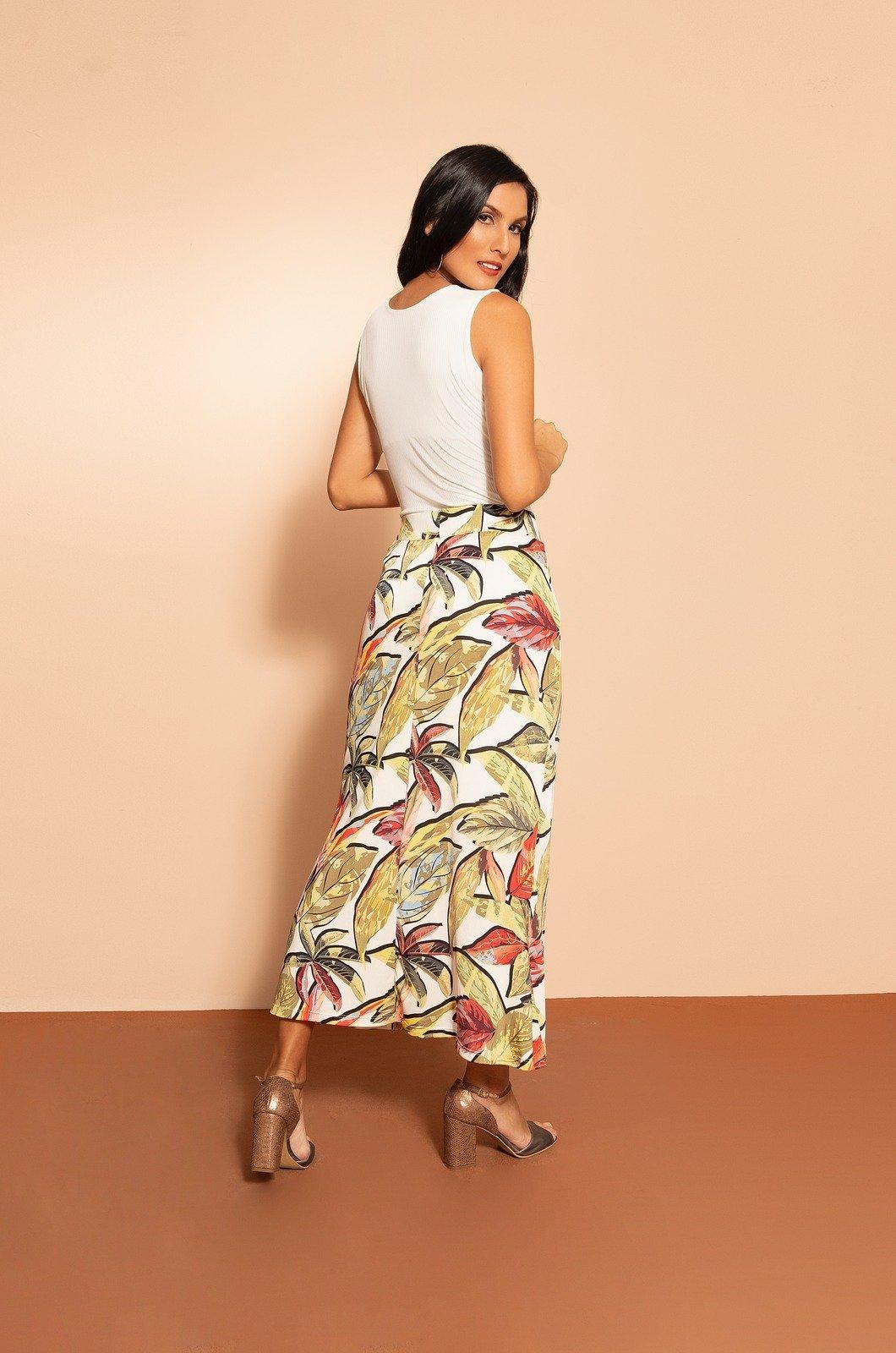 Falda larga estampada - Chazari 3315-20 III