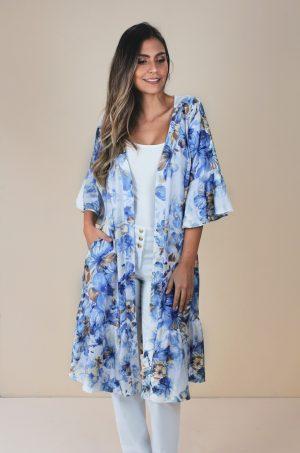 Kimono en Satín - Chazari 4937-9 Ivory 01