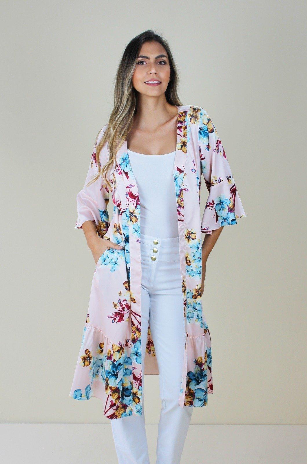 Kimono en Satín