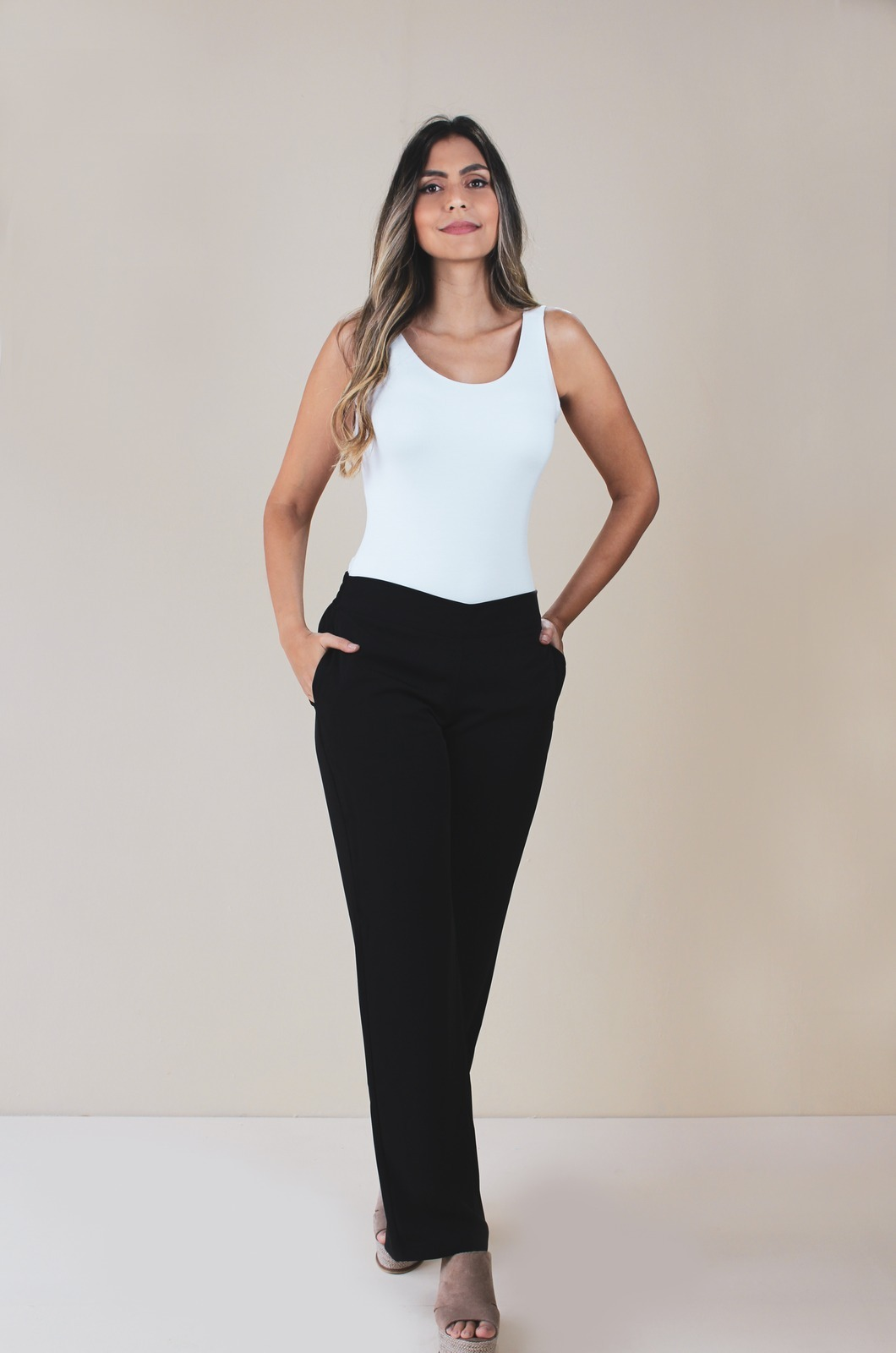 Pantalón bota ancha - Chazari 1290-9 Negro 01