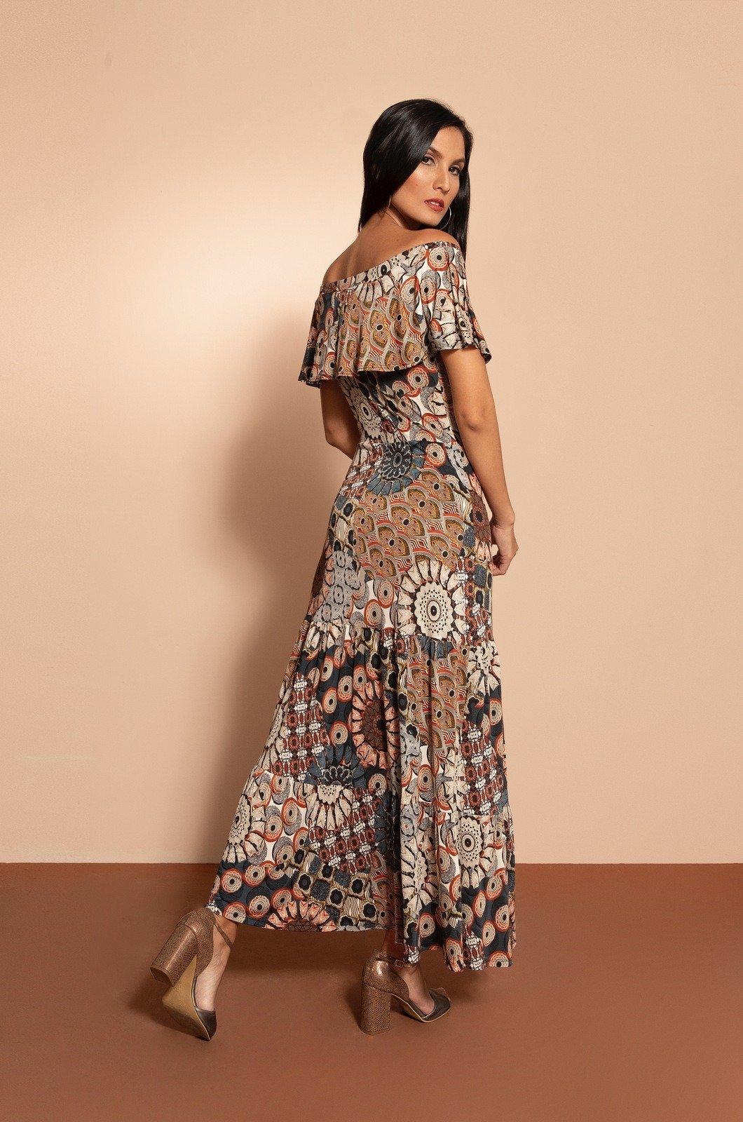 Vestido campesino largo - Chazari 6940-20 02