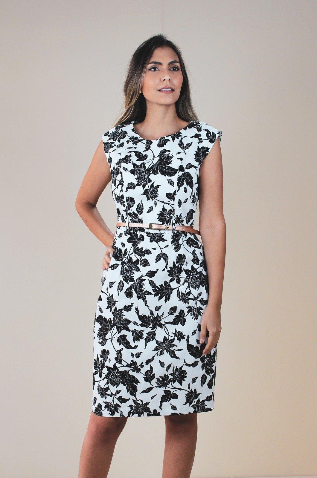 Vestido talego - Chazari 6928-9 Blanco