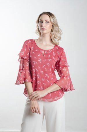 Blusa escote redondo con bolero - Chazari 4125-21