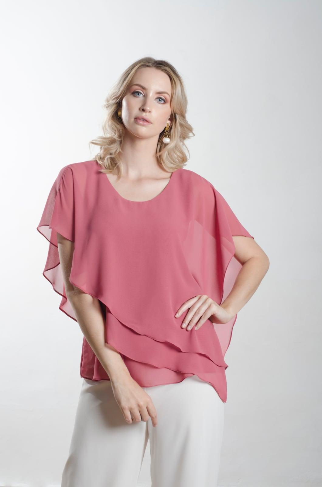 Blusa-en-capas-asimétricas-Chazari-4008-20-Rosa-Camelia